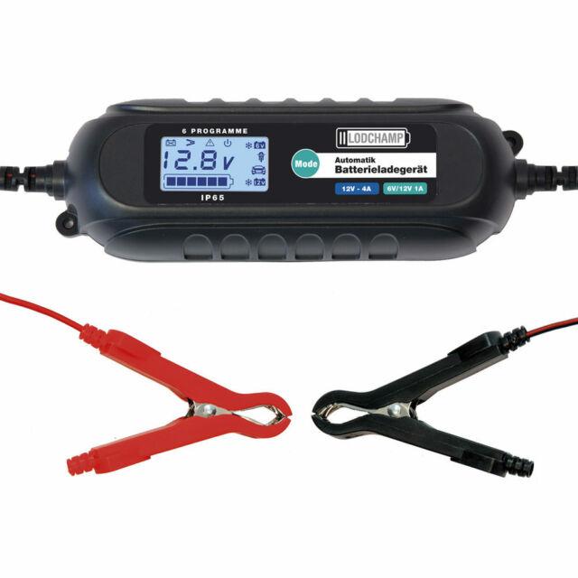 LODCHAMP 6V/12V-4A Intelligentes Batterieladegerät 12V KFZ Batterie Ladegerät