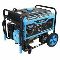 Pulsar PG7750B 7750/6250 Watt Dual Fuel (Hybrid) Portable Generator (Blue)