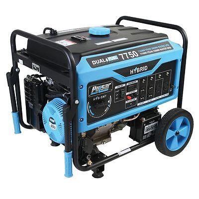Pulsar Dual-Fuel 7750w Peak Portable Generator PG7750B