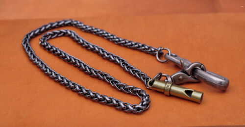 "30/"" Biker Strong Twisted Survival whistle Trucker Keychain Key Jean Wallet Chain"
