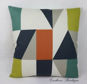 Retro Geometric Handmade Cushion Cover