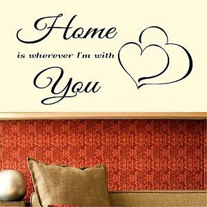 Home-est-partout-ou-je-vous-M-034-avec-autocollant-mural-romantique