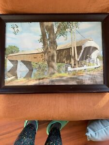 Charles-Sawyer-hand-colored-photo-Covered-Bridge