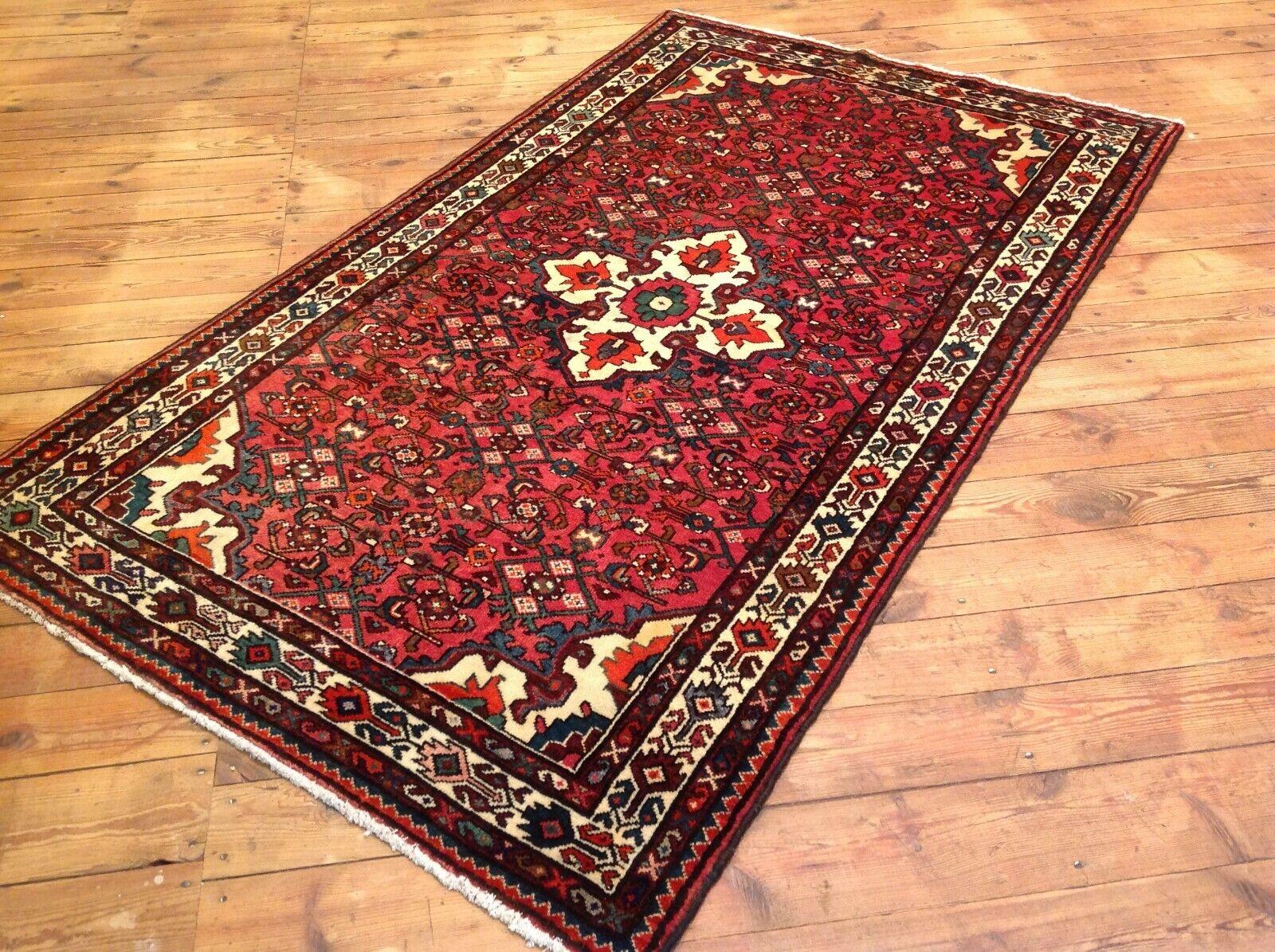 Precioso alfombra persa Hamadan 230 x 130 cm Orient alfombra top estado nuevo