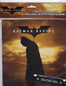 BATMAN BEGINS Movie(2005 Upper Deck) - STICKER ALBUM factory sealed.