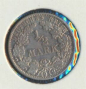 German-Empire-Jagernr-16-1912-F-very-fine-Silver-1912-1-2-Mark-large-Im-7849225