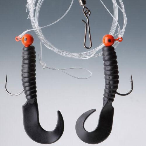 Cormoran-seacor pilkvorfach-Noir 2 crochets-taille 1//0