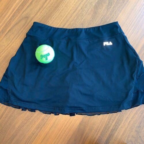 Fila Small Black Tennis Skirt Ruffles Compression