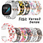 miniature 4 - For Fitbit Versa 3 / Sense Silicone Printing Watch Band Strap withe Case Bumper