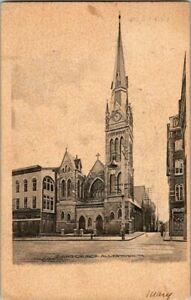 1905-ALLENTOWN-PA-ZIONS-CHURCH-POSTCARD-EE9