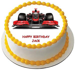 Image Of Number 5 Race Car Cake Number 5 race track cake u2026