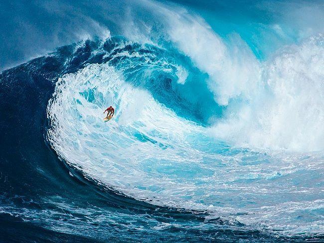 Pangea  Surfing the Big Wave Keilrahmen-Bild Leinwand Surfen Welle Sport Kult