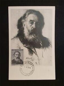 Cssr Mk 1959 Svatopluk Écrivain Writer Maximum Carte Maximum Card Mc C7902-afficher Le Titre D'origine Pour Revigorer Efficacement La Santé