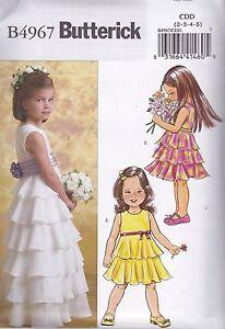 Butterick-facile-cucito-modello-per-bambini-BAMBINA-ABITO-amp-fusciacca-2-8