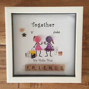 image is loading personalised box frame family best friends button heads - Best Friends Christmas Gifts