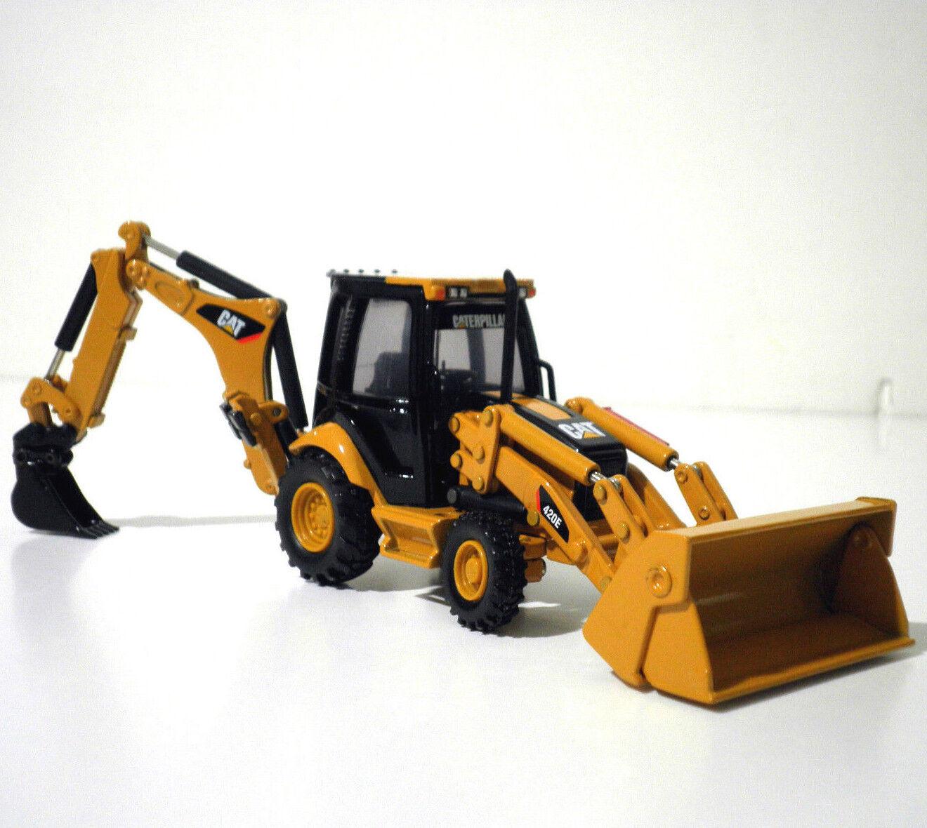 Norscot Cat 420E pivote de centro Retroexcavadora con herramientas de trabajo 1 50, Diecast