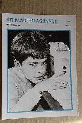 (s39) Starfilmkarte - Stefano Colagrande - Incompreso Durch Wissenschaftlichen Prozess