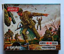 Airfix 01723-9, WW II, Paratroopers, 40 Teile, Blue Box OVP, 1973, Rarität