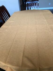 Details About Table Linens 60x 90 Preowned Crate And Barrel Sold Gold  Classic StableTablecloth