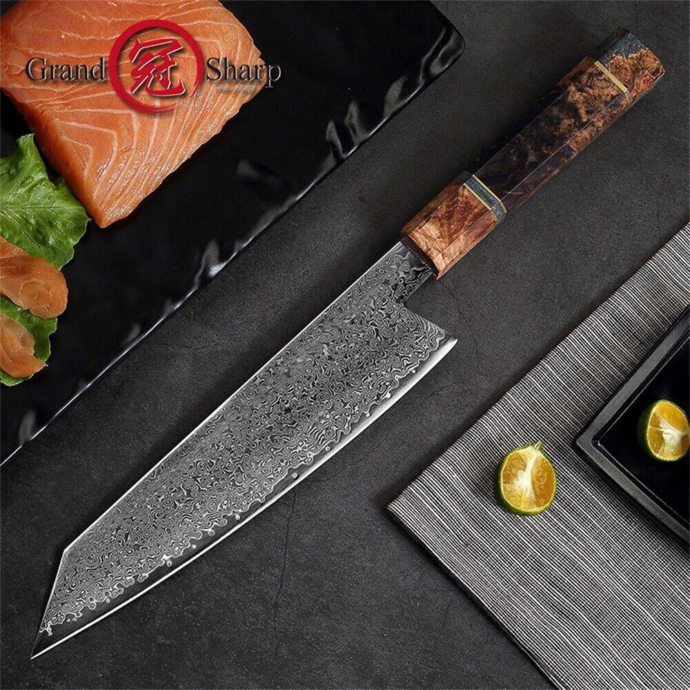 8.2  Damascus couteaux de cuisine vg10 d'acier damas japonais chef Kiritsuke Knife