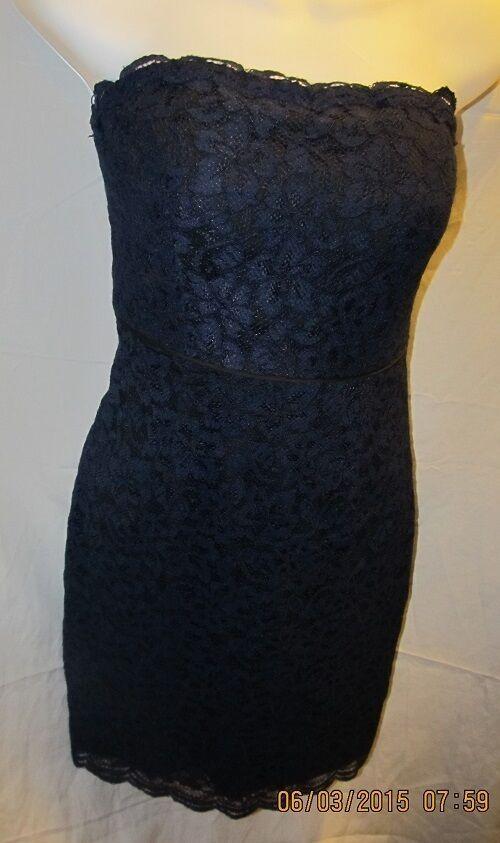 Fabuloso  Azul Marino encaje vestido de cóctel By Diane Von Furstenberg Talla 8 nwots  289  genuina alta calidad