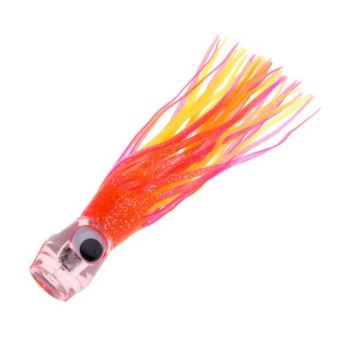 Resin Head Soft Squid Rock Fischköder Salzwasser Marlin Thunfisch Trolling
