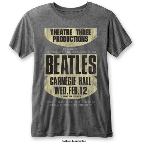 NEW /& OFFICIAL! The Beatles /'Carnegie Hall/' Burnout T-Shirt