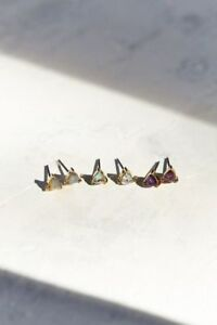 92d3d7331 Image is loading Urban-Outfitters-Jewel-Stone-Stud-Earrings-45-SET-