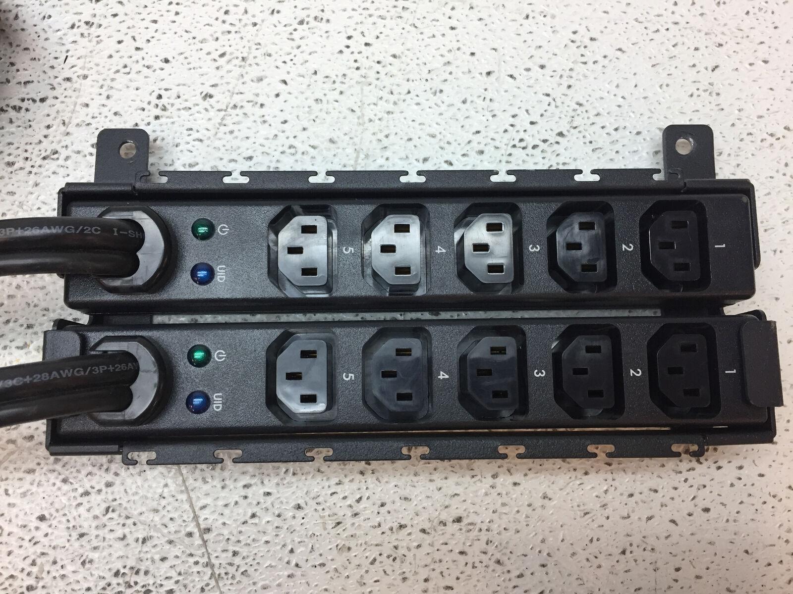 Lot of 2 HP 533780-001 Modular PDU Extension Bar 16A//200-240V 5x C13 AF528A