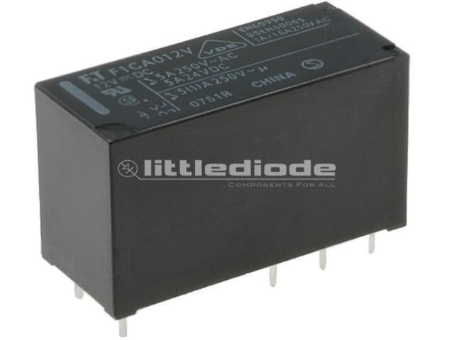 FTR-F1CA012V Relay electromagnetic DPDT Ucoil12VDC 5A/250VAC 5A/24VDC