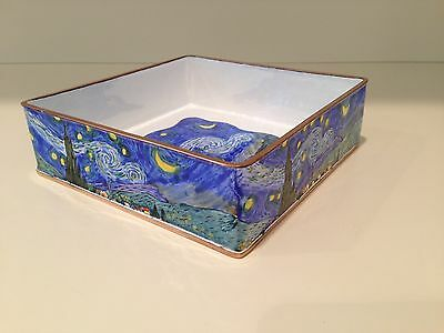 Faithful Kelvin Chen Starry Night/van Gogh Large Enameled Tray Nib With Coa Elegant And Sturdy Package Other Decorative Collectibles