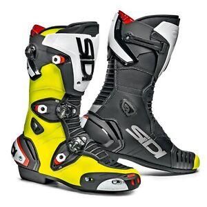 Sidi Mag 1 CE Motorcycle Biker Boots Black / Yellow UK 9 / Eur 43