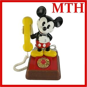 The-Mickey-Mouse-Rotary-Telephone-Vintage-1976-American-Telecommunications-VGC