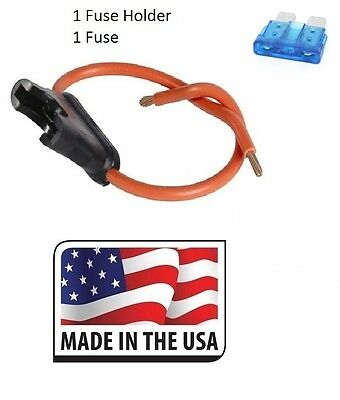 16 GAUGE ATC FUSE HOLDER IN-LINE WITH 10 AMP FUSE Made in USA 25 PC 25 PC