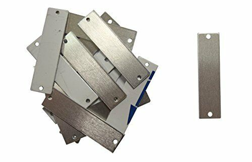 Aluminum .063 14 Ga. - 50//Pack 1//2 Inch x 2 Inch Rectangle With Two Holes RMP Stamping Blanks