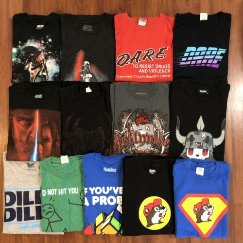Mens  T-Shirt  Lot Of 13 Mens Sz Small DARE Star W