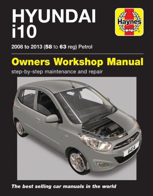 haynes repair service manual 6414 hyundai i10 2008 to 2013 58 63 rh ebay co uk 2008 Hyundai 1203 Doors Hatchbacks 2008 Hyundai Porter