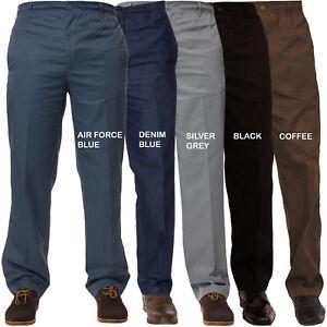 Hombre Rugby Pantalones Cintura Elastica Trabajo Casual Elegante Todo Tallas W32 Ebay
