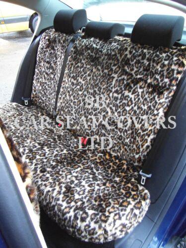 Seat Covers Per montare un CHRYSLER JEEP auto Oro Leopardato in Pelliccia Sintetica Set Completo