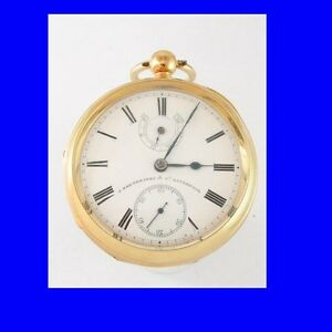 Mint-18k-Gold-Non-Fusee-Liverpool-Up-Down-Pocket-Watch-1901