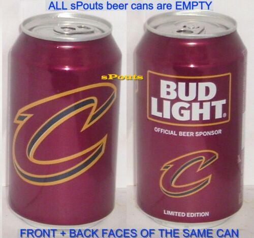 2017 CAVS CLEVELAND CAVALIERS BUD NBA BEER CAN BASKETBALL OHIO SPORT OH MAN CAVE