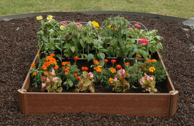 Raised Garden Bed Kit 42 X 42 Outdoor Recycled Plastic And Wood
