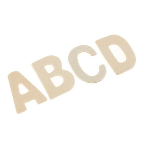 156Pcs Set Wooden Craft Letters with Storage Tray Unpainted Wood Alphabets