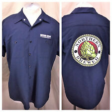 Red Kap Northern Brewer Home Brew Supply (Large) Button Up Breweriana Shirt Blue