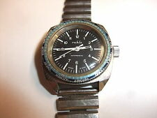 original DDR Kult UMF Ruhla Uhr Herren Armbanduhr Chronograph Handaufzug läuft