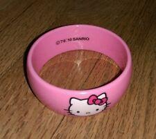 Sanrio Hello Kitty Pink bangle bracelet 2010 Jewelry Dress Up Pretend Play Cute