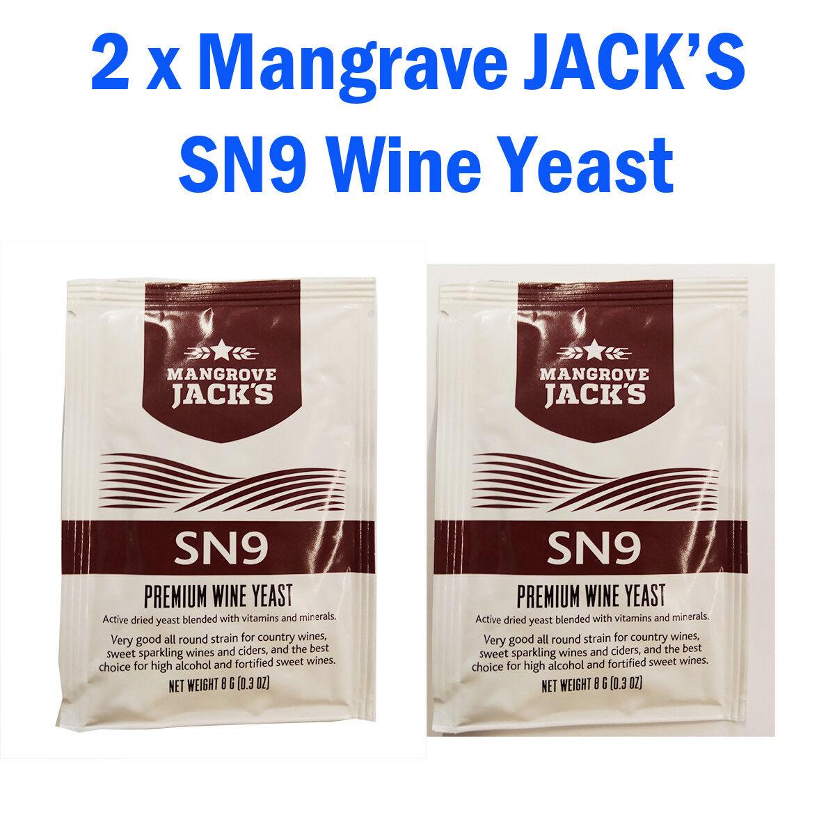 2 x Mangrave JACK's SN9 Premium Wine/Champagne/Cider Yeast