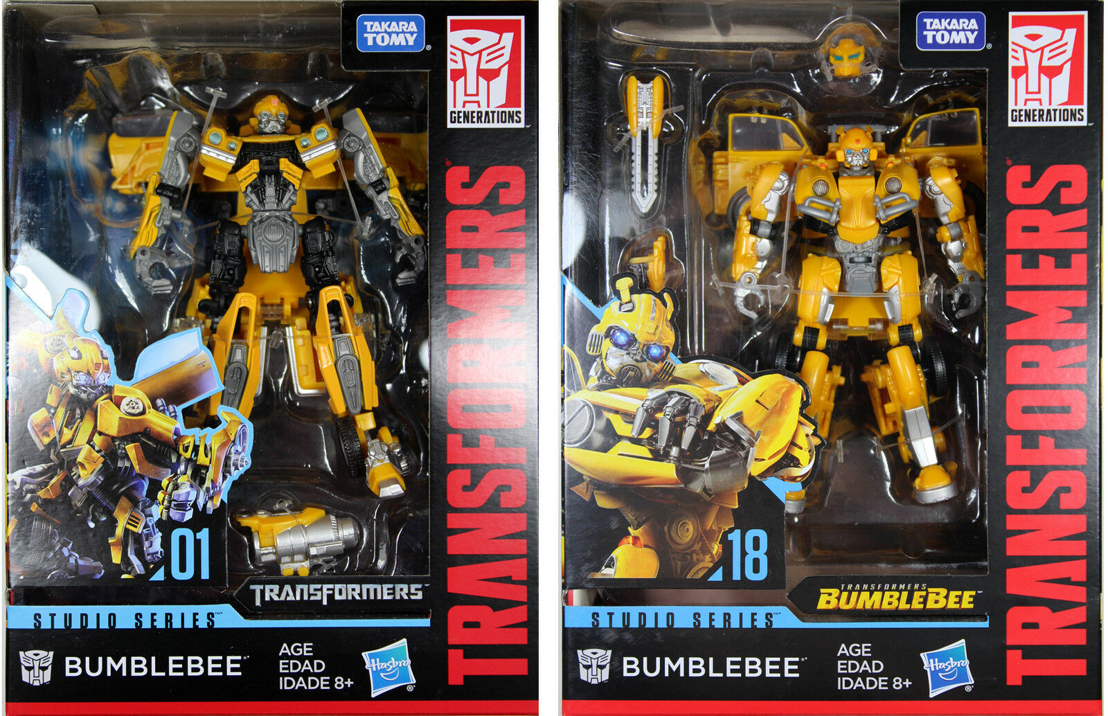 Transformers Studio Series  BUMBLEBEE (CAMARO ) & BUMBLEBEE (VW BEETLE )