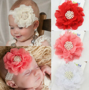 Image is loading Kids-Baby-Girls-Lace-Flower-Headband-Hair-Bows- d36dc7b32f3
