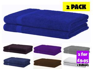 Luxe-100-coton-egyptien-Bath-Sheets-Pack-De-2-Extra-Large-Doux-Serviettes-BALE